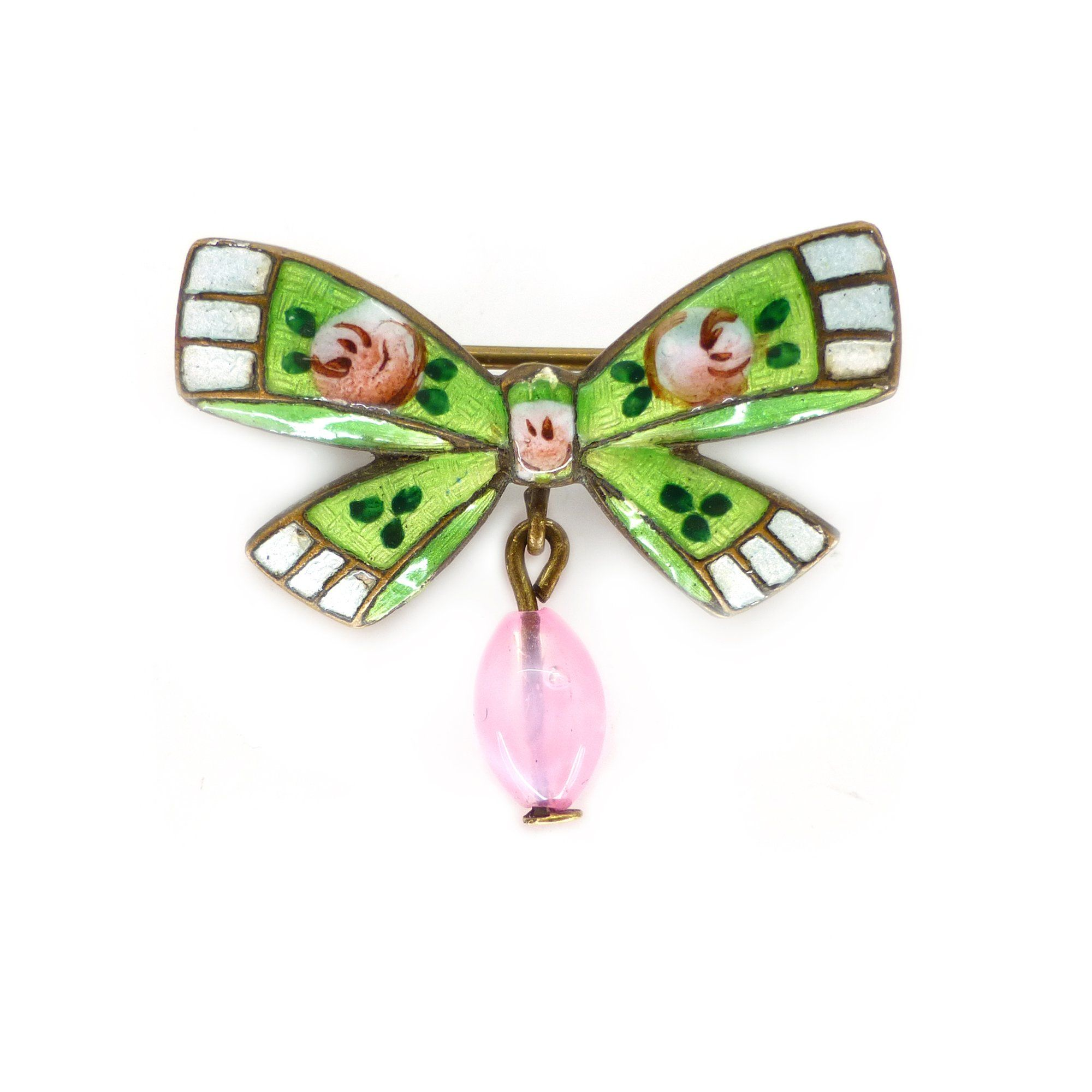 enamelled antiques butter brooch victorian products spider lane