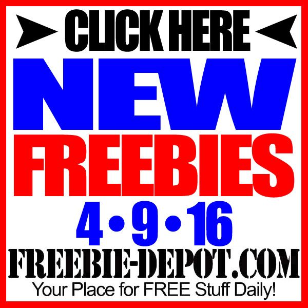 ►► NEW FREEBIE HOTLIST – FREE Stuff for April 9, 2016 ►► #Free, #FREEStuff, #Freebie, #HOTLIST ►► Freebie-Depot