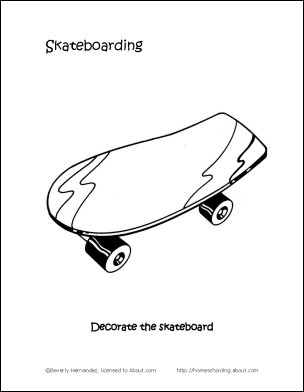 free skateboarding coloring pages - photo#36