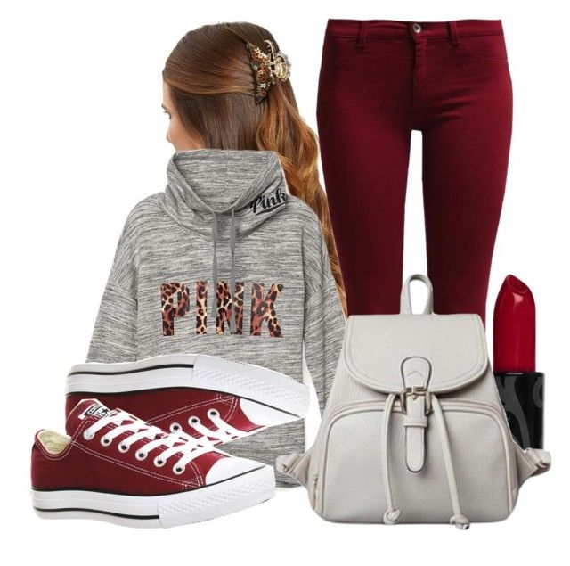 """☀ ☀ ☀"" by maiiira-nair ❤ liked on Polyvore featuring Sisley, Victoria's Secret PINK and Converse"