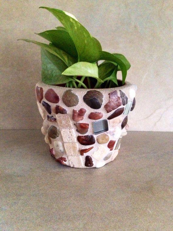 Small Planter Tiny Succulent Pot Mosaic Flower Pot Handmade Window Planter Air Plants Pot Rustic Te Mosaic Flower Pots Succulent Pots Terracotta Herb Pots