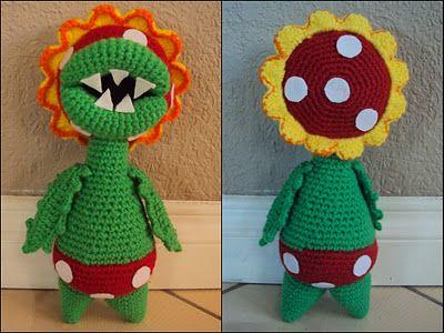 Petey Piranha - Mario Bros Amigurumi Free Crochet Pattern | baby ...