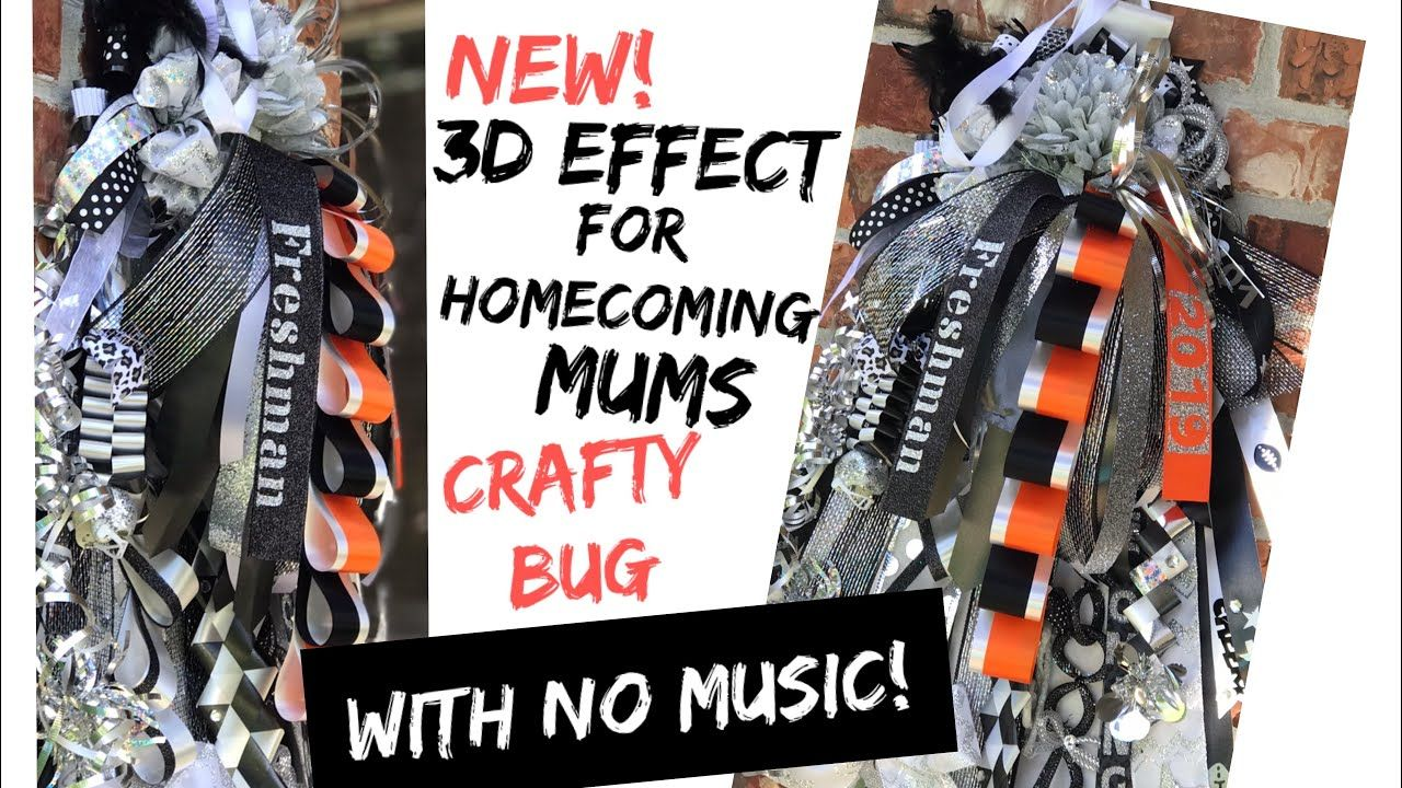RE-UPLOAD NEW 3D effect for girls homecoming mum; DIY HOMECOMING MUMS; how to make a homecoming mum
