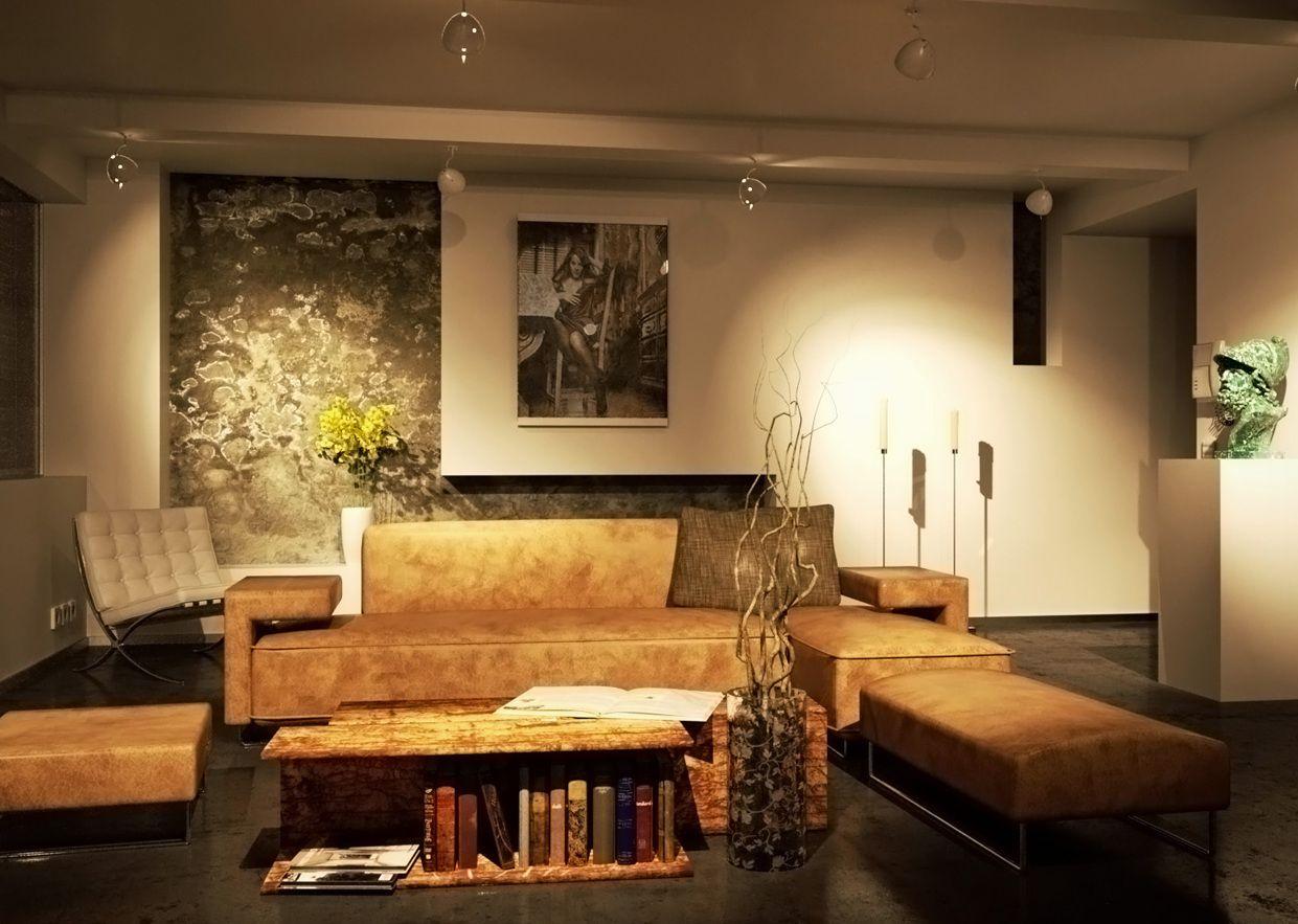 Wohnzimmerwand Braun ~ Wohnzimmer farblich gestalten braun schmauchbrueder