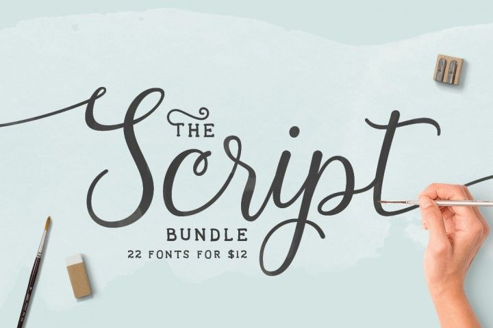 Download Grab this beautiful collection of 22 Script Fonts for ONLY ...