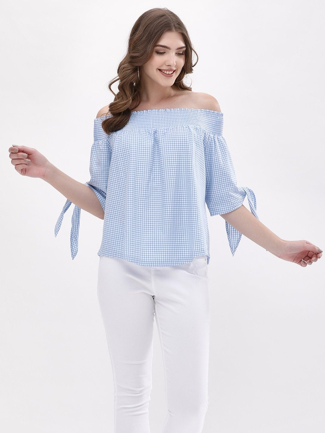 512a216a9 Buy off shoulder tops for girls online in India at koovs.com. Buy cold  shoulder tops, blouse in various designs – one side off shoulder tops, half  shoulder ...