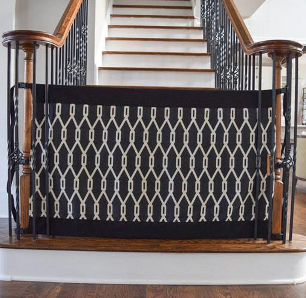 Banister to Banister IndoorOutdoor Safety Gate (Onyx