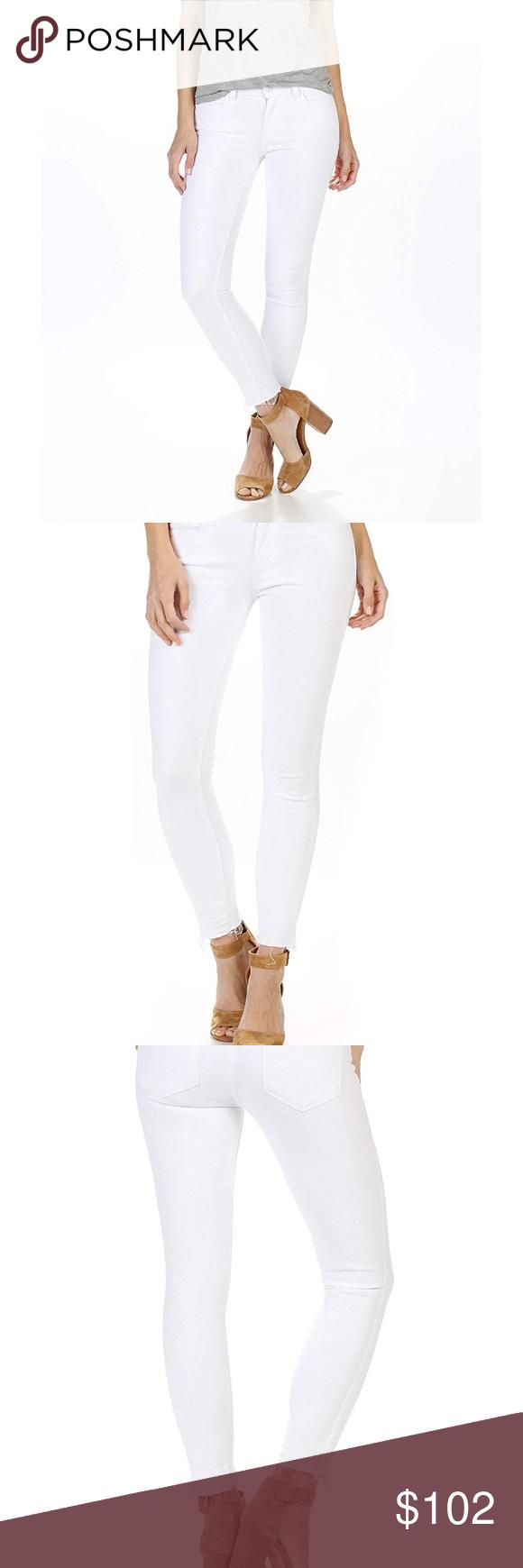 ba080bc9063 PAIGE Verdugo Crop Skinny Jeans W/Undone Hem These are great Paige crisp  white