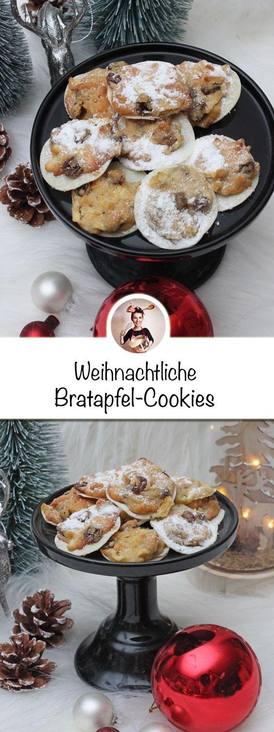 Du magst den Geschmack von Bratapfel? Dann wird dir dieses Rezept aus einer Kombination von Bratapfel und Keks bestimmt gefallen. #Weihnachtsplätzchen #Rezepte #Cookies #Bratapfel #healthymarshmallows