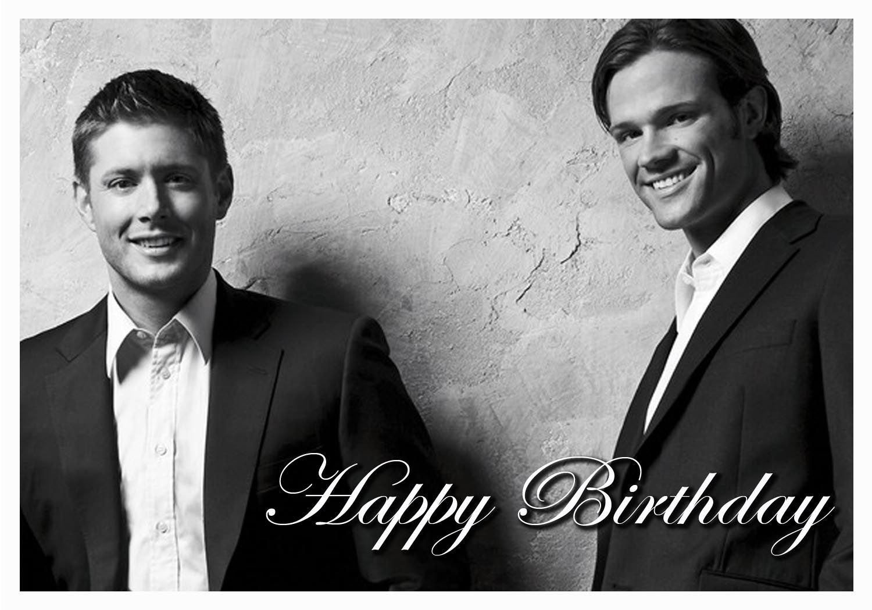 Party Decorations Birthday Card Or Photo To Hang Up Supernatural Birthday Supernatural Happy Birthday Happy Birthday Meme