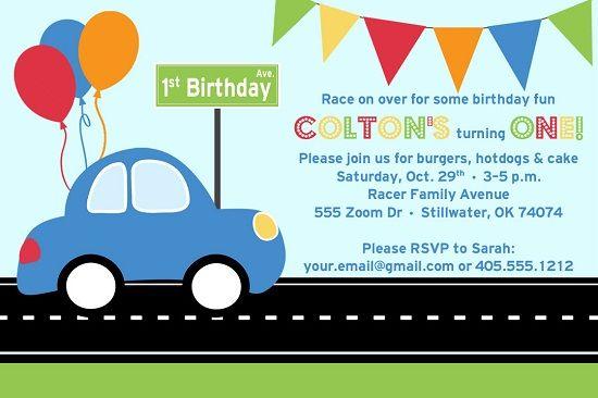 car party invitations Josemulinohouseco
