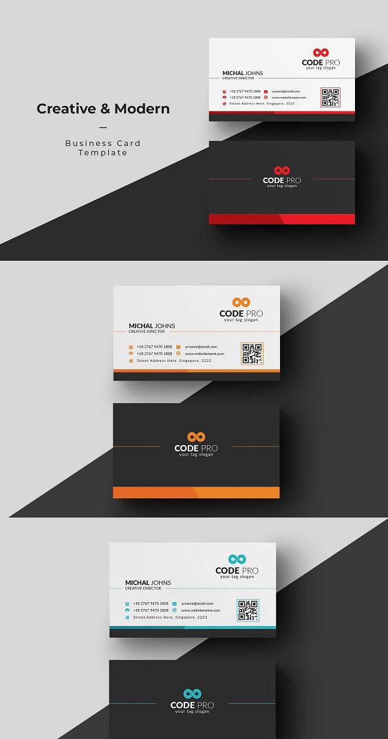 Business Card Business Cards Creative Colorful Business Card Business Card Template