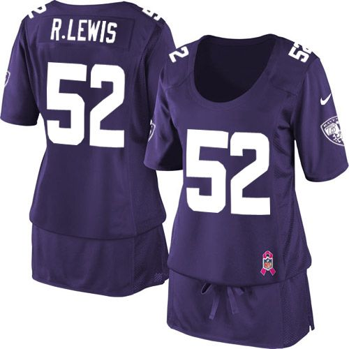 Nike Baltimore Ravens #52 Ray Lewis Elite Purple Breast Cancer Awareness Women NFL Stitched Jersey http://www.nfljerseys1967.com/nfl-jerseys-breast-cancer-awareness-series-c-534_541.html