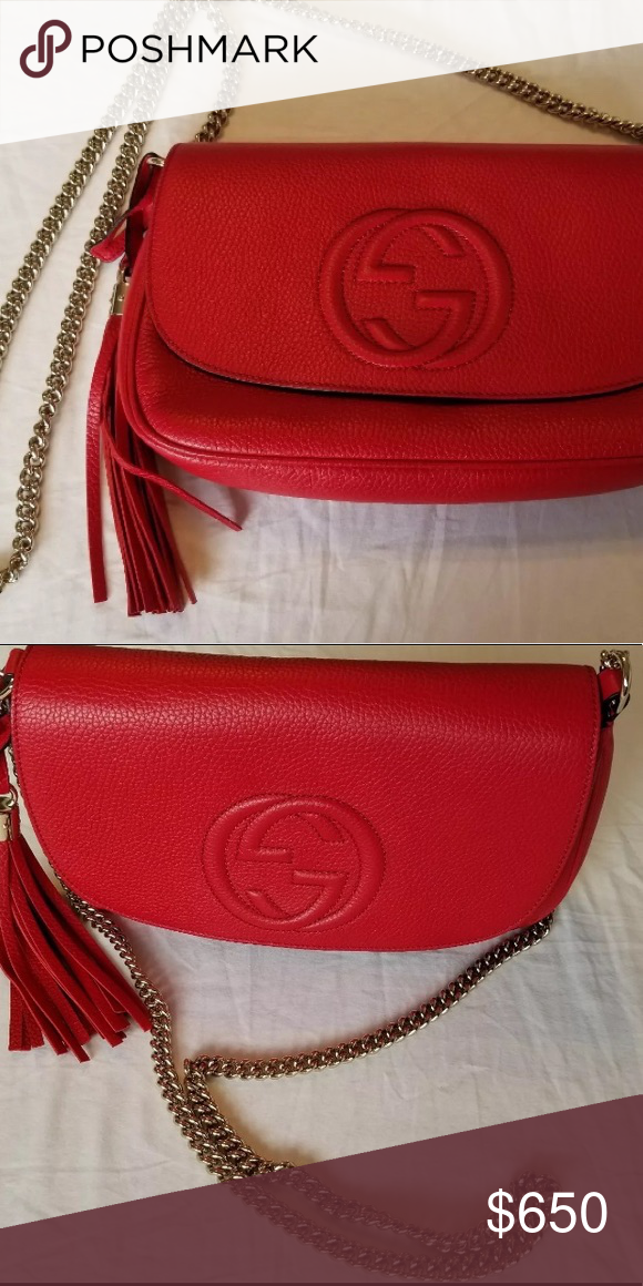 7d989c39626d0 Gucci Soho Leather Cross-Body Disco Chain Bag Brand new never used before Gucci  purse
