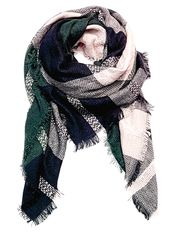 A soft & cozy Teal and Green Blanket Scarf  On sale $18.00