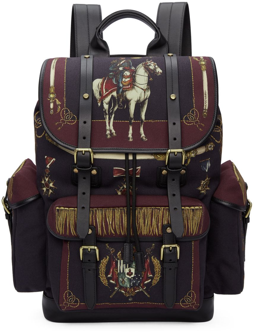 46965420bf598 Dolce   Gabbana - Multicolor Knight Military Backpack   MEN S ...