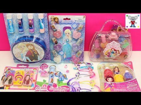 6ed034a99 Maleta de Maquillaje para niñas de FROZEN Elsa y Anna | Set Manicura de  Frozen para niñas - YouTube