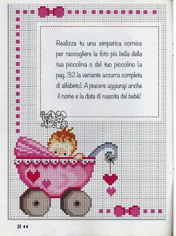 Pin van Natascha De Ruiter op borduren - Punto de cruz bebe, Punto ...