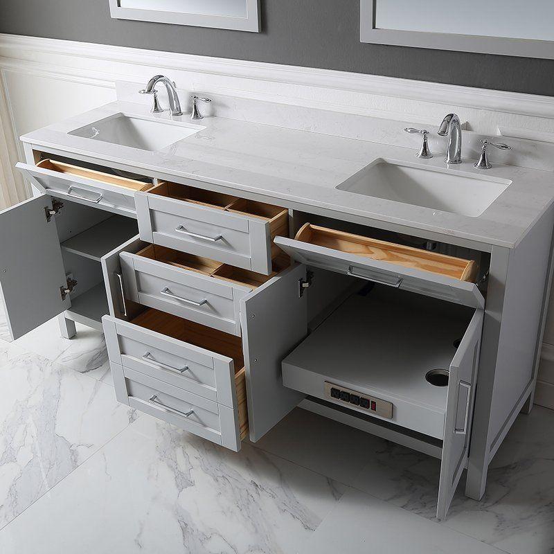 Tahoe 72 Double Bathroom Vanity Set With Mirror Double Vanity Bathroom Double Sink Bathroom Vanity Bathroom Sink Vanity
