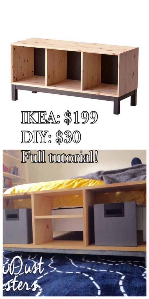 DIY Bench with Storage Compartments- IKEA Nornas look alike Meubles - truc et astuce maison bricolage