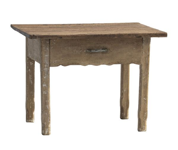 This is a charming 19th century French side table which was probably used in a butchers shop.  The table is very solid and in good condition although like many pieces of French furniture it has had considerable woodworm over the years – we have thoroughly treated this.  It measures 99cm wide, 74cm deep and 72cm high.