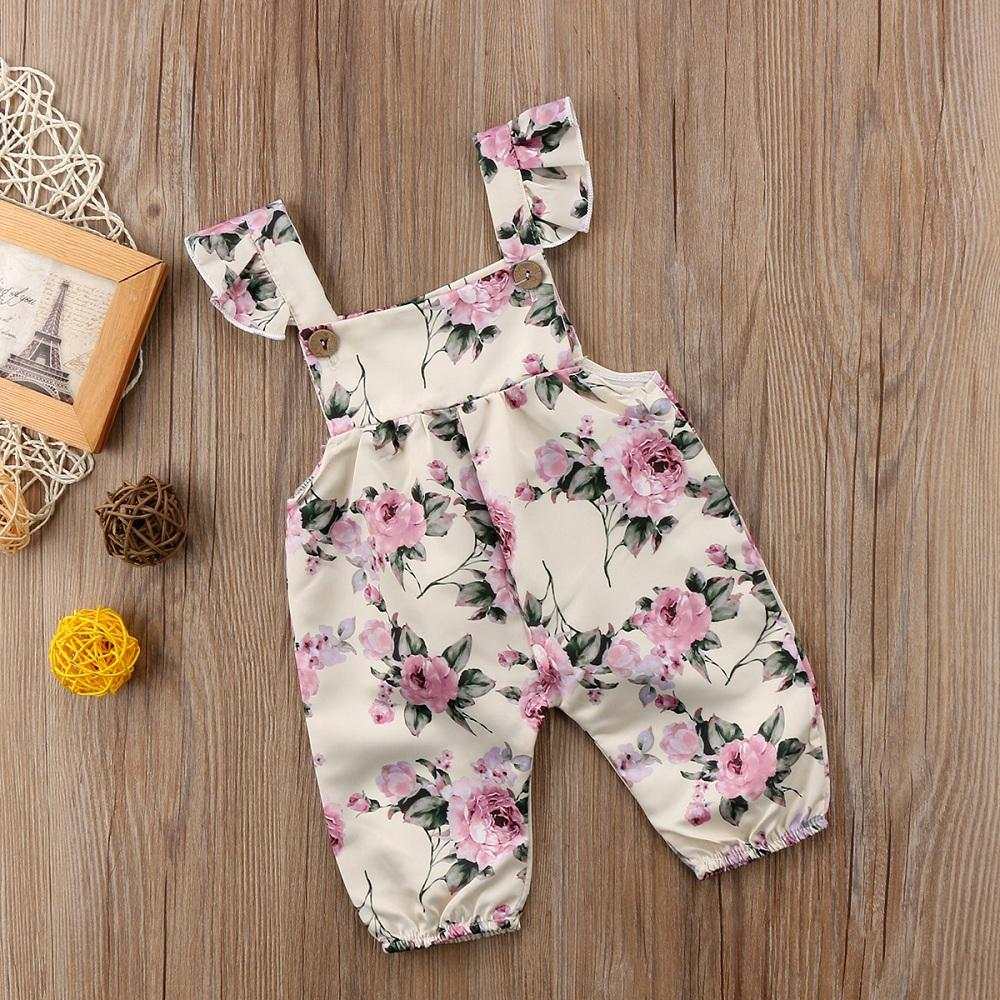 NEW Toddler Girls Romper Size 2T Sleeveless Shorts Outfit Jumpsuit Yellow Floral