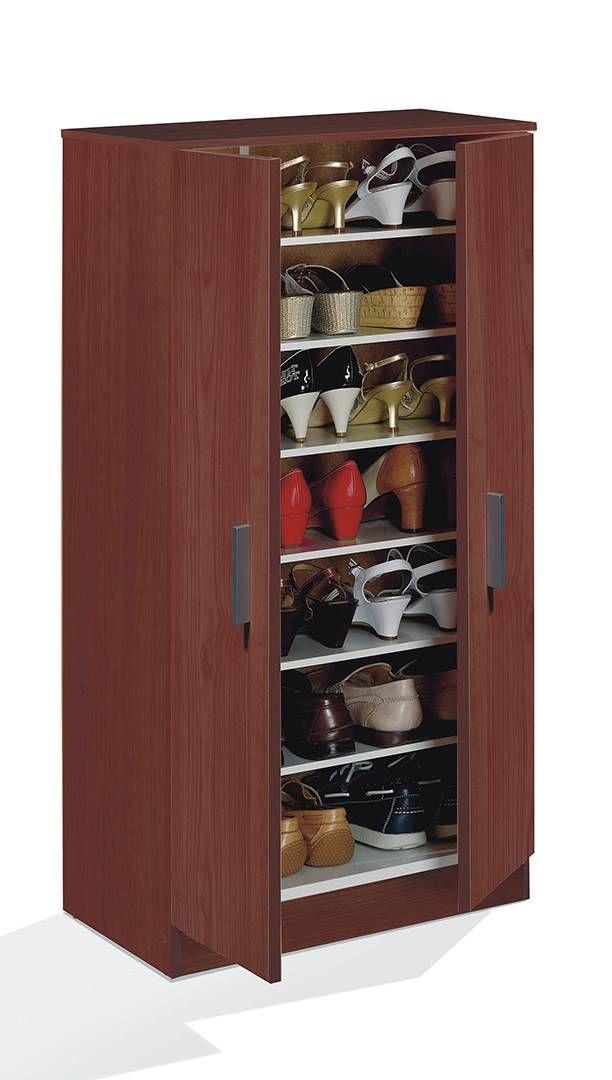 Zapatero armario de 6 baldas en casta o la casa for Gabinete de zapatos para la entrada