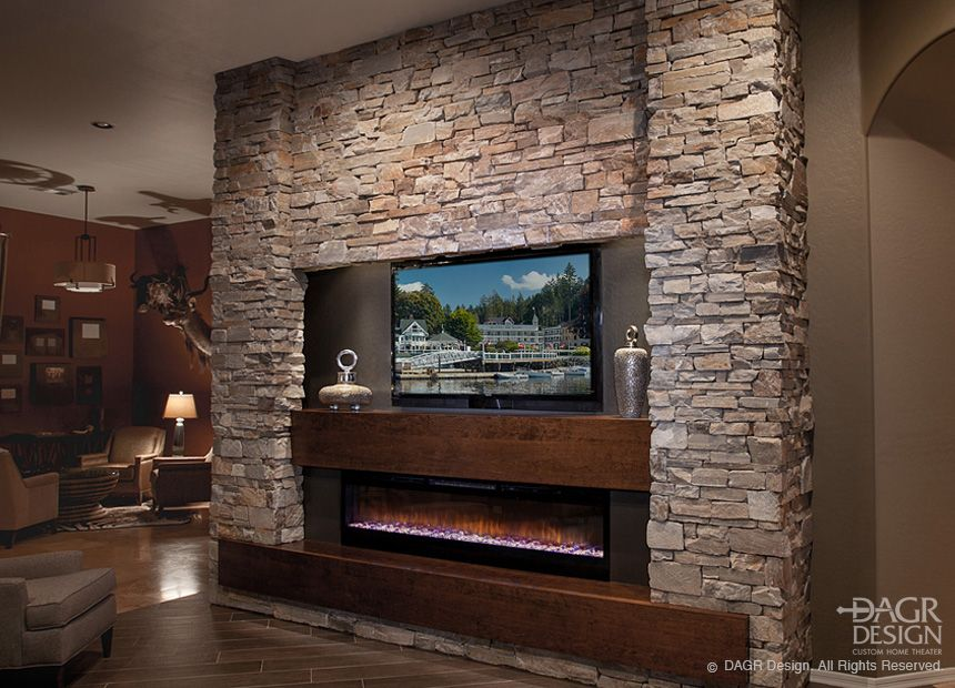 Media Walls With Horizontal Fireplaces Modern Entertainment