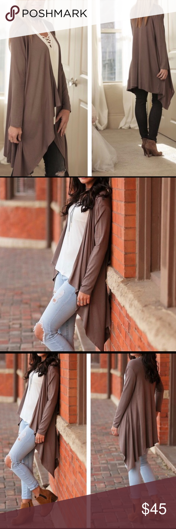Beautiful Taupe Waterfall Cardigan Boutique | Taupe, Beautiful and ...
