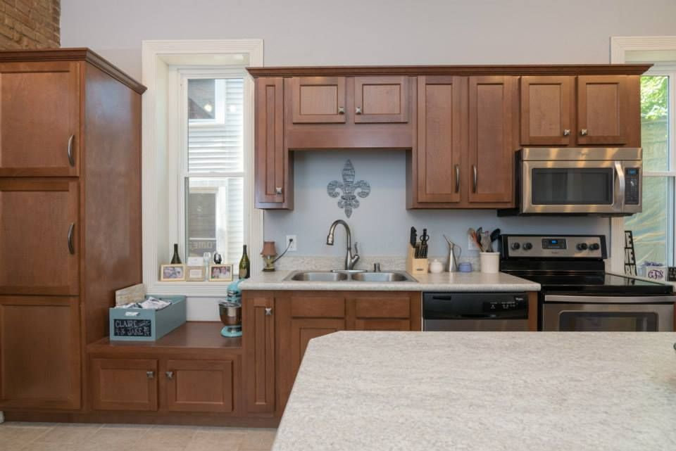 Kitchen Kompact's Glenwood Beech Cabinetry | Contemporary ...
