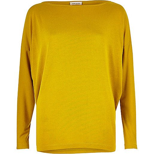 eed120fba01627 Dark yellow batwing top £22 River Island size 14 17.11.16