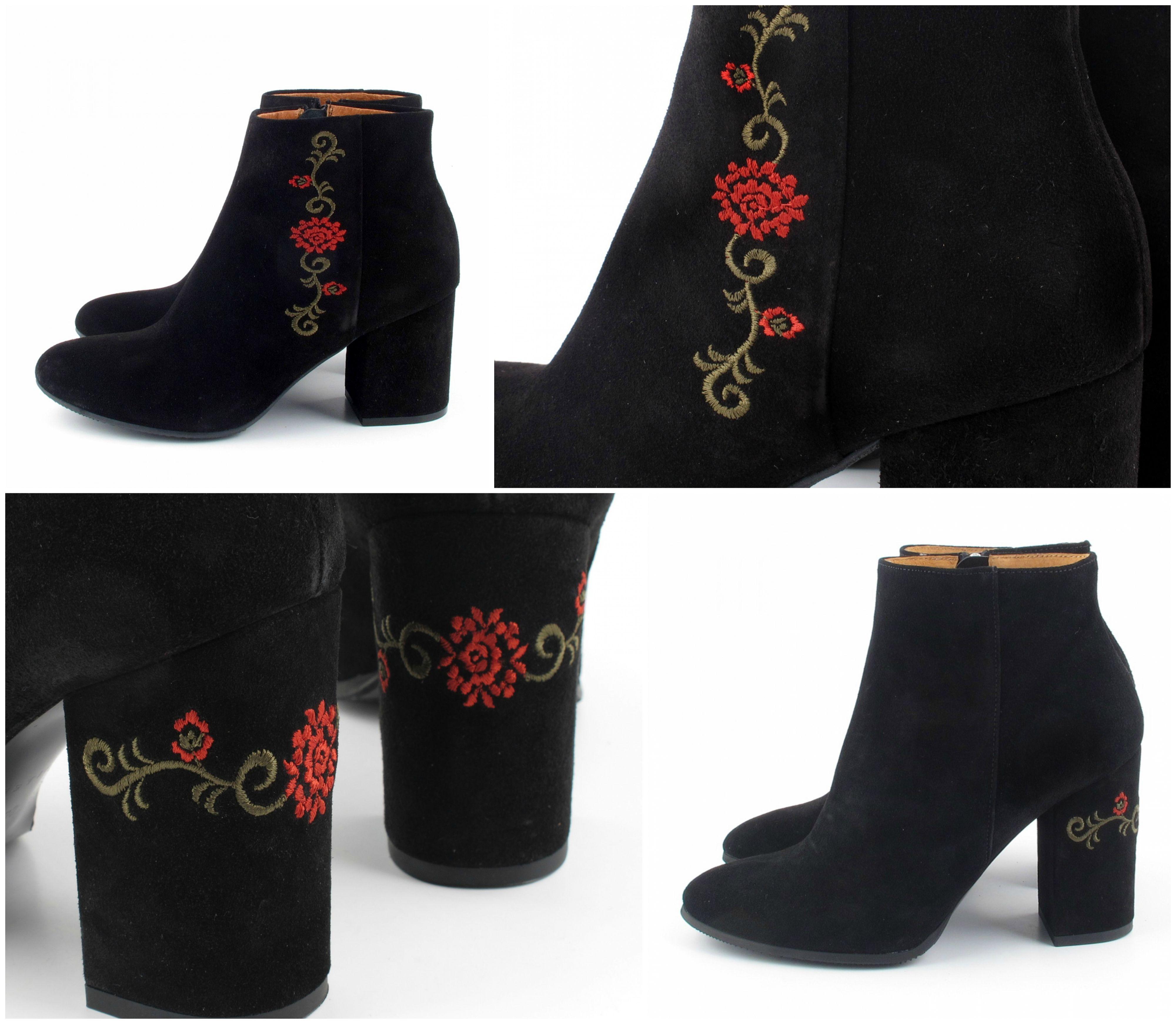 Haft Madeinpoland Botki Boots Rylko Trendy Fallwinter2017 Fall Embroidery Embroideryshoes Mixbuty Embroidery Shoes Boots Shoes