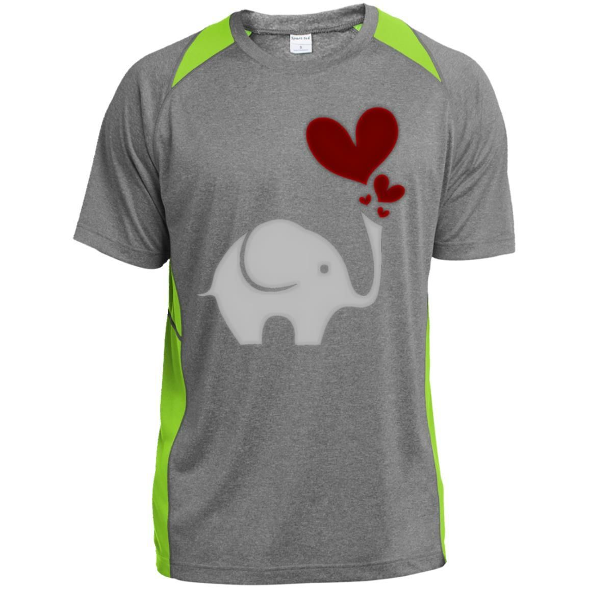 Elephant Love Youth Colorblock Performance T-Shirt