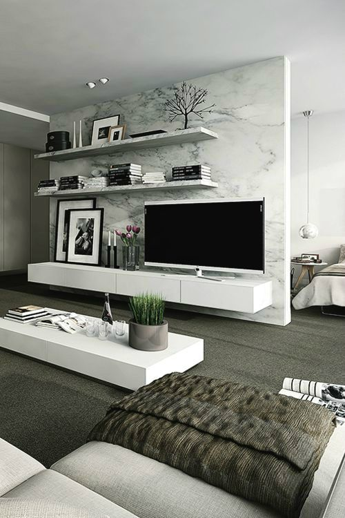 Awesome Living Room Tv Wall Ideas Part - 8: 40 TV Wall Decor Ideas. Modern Living Room ...