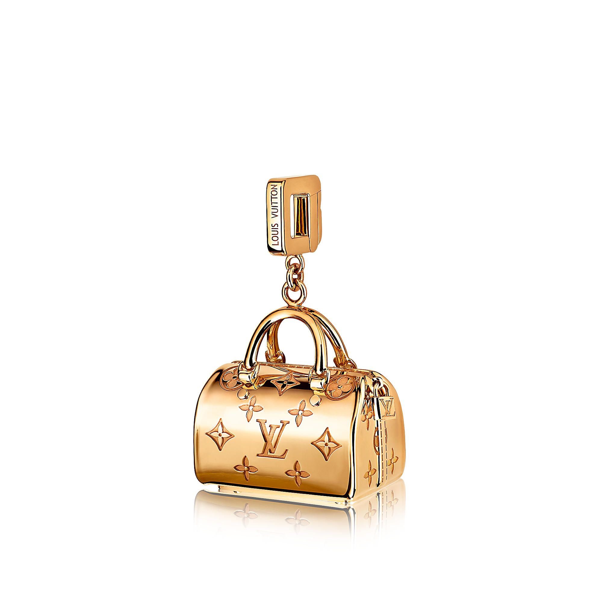 Discover louis vuitton speedy empreinte charm in yellow gold via