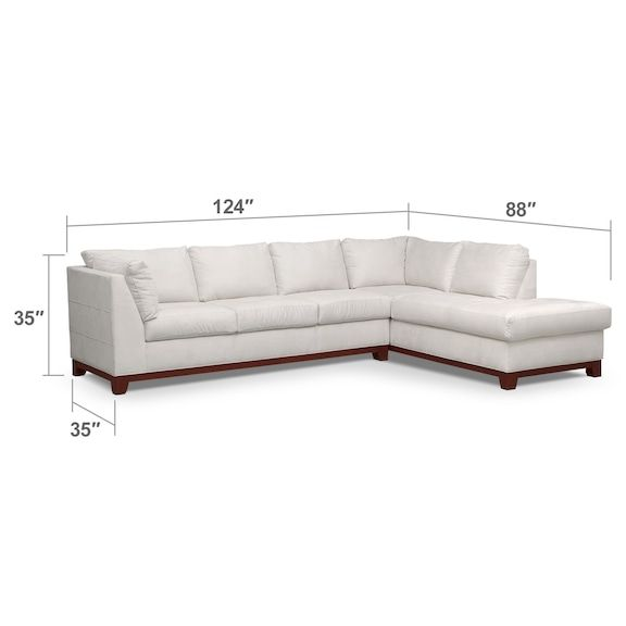 American Signature Furniture Willow Grove Pa: Soho 2-Piece Sectional With Chaise