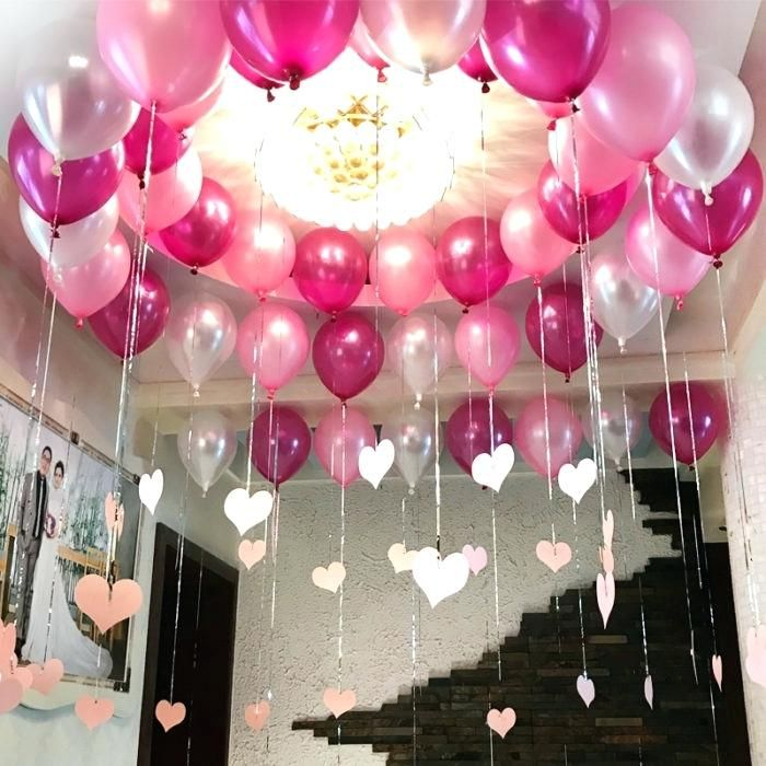 Neat Design Birthday Decoration At Home Beautiful Ideas Room For Friend Deco Simple Birthday Decorations Birthday Decorations At Home Birthday Room Decorations