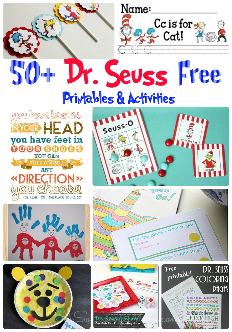 50 Free Dr Seuss Printables Activities And Crafts Diy Crafts