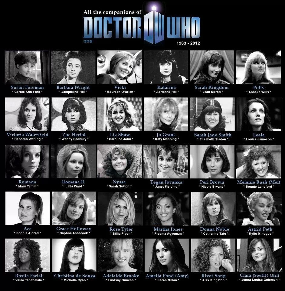 The Doctor S Companions With Images Doctor Who Companions Dr