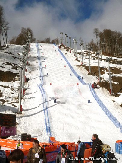 Moguls hill Rosa Khutor Extreme Park. Add Around The Rings on www.Twitter.com/AroundTheRings & www.Facebook.com/AroundTheRings for the latest info on the #Olympics.