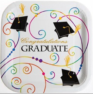 Graduation paper plates and napkins
