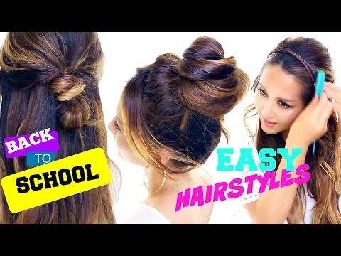 4 incredibly cute easy back to school hairstyles 2 hairstyles hair tutorial how to create 4 easy back to school hairstyles on yourself try these pretty hair styles for everyday a quick faux waterfall braid messy solutioingenieria Choice Image