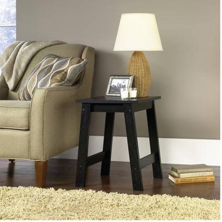 Mainstays End Table, Black Oak Finish   Walmart.com