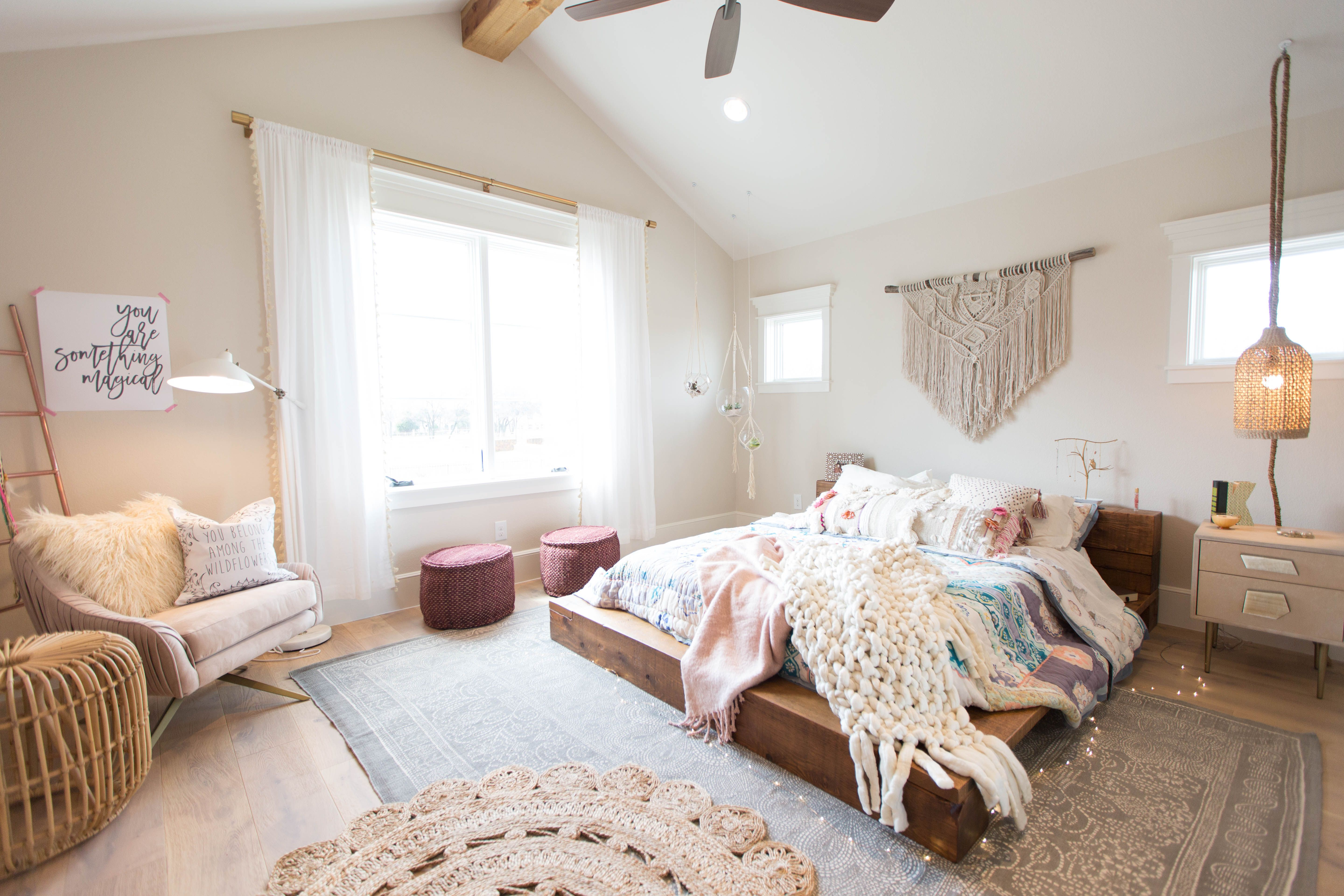 Lay Back With A Book In This Easy, Boho Chic Teen Bedroom. #