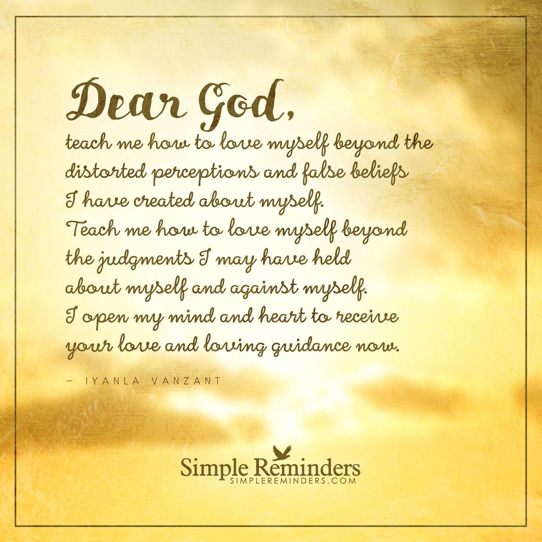 Prayer to love myself