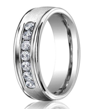 62270578b00 Designer 950 Platinum Men's Wedding Ring With Diamonds | 6mm ...