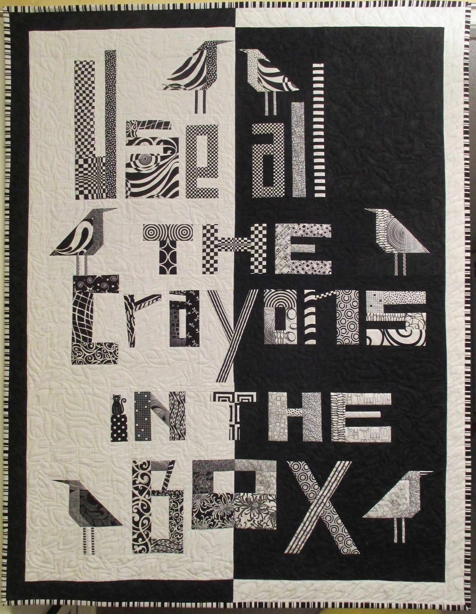 Lynnes liberated letters book quilt how to make