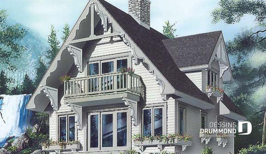 Plan de maison unifamiliale Heidi No 4932 in 2018 Cabin Plans - calcul surface habitable maison