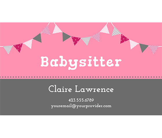 Baby sitting cards selowithjo download this babysitter business card template and other free wajeb Image collections