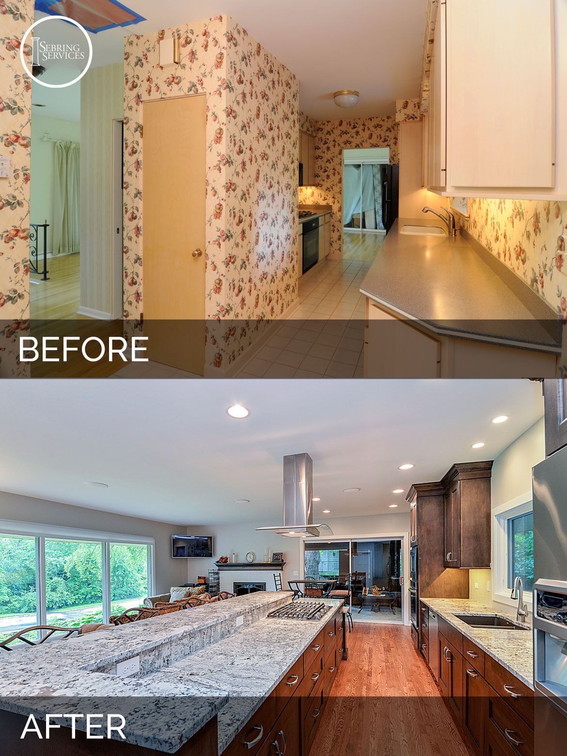 Dan ann 39 s kitchen before after pictures home design - Diy bathroom remodel before and after ...